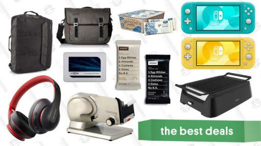 Monday's Best Deals: Protein Bars, Meat Slicers, Nintendo Switch Lite, and More