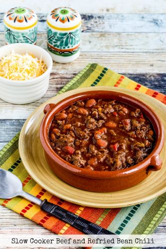 Slow Cooker Beef and Refried Bean Chili