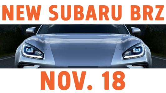 The Totally Redesigned Subaru BRZ Will Debut Nov. 18 And A New Teaser Shows A Lot