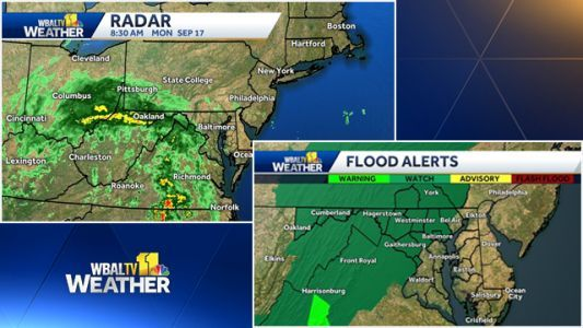 Flash flood watch in effect through late Monday night