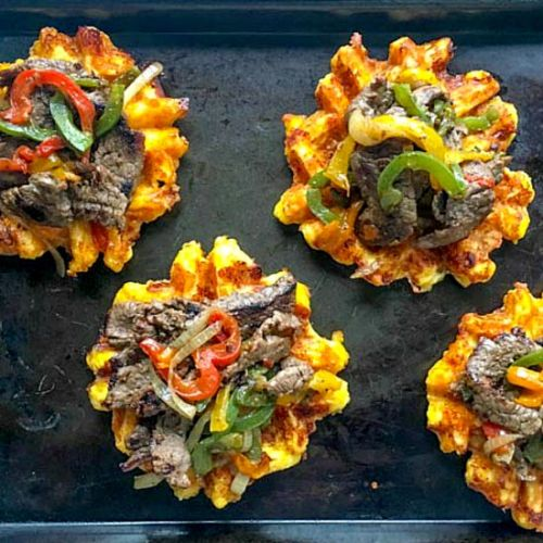 Keto Philly Cheesesteaks & Waffles