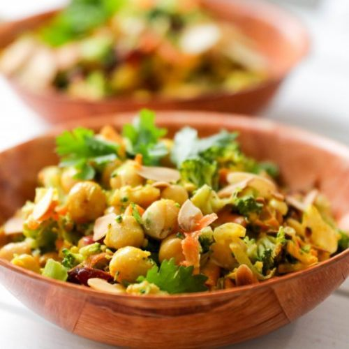 Curried Chickpea and Broccoli Salad
