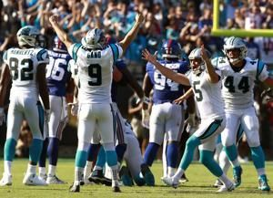 Panthers' Gano finds place for ball used on winning kick