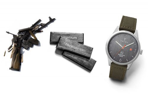 Illegal guns are being melted down into fancy watches