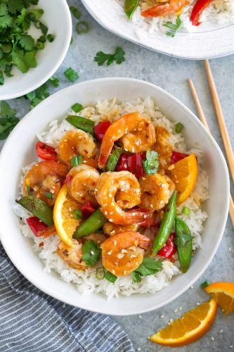 Orange Garlic Shrimp