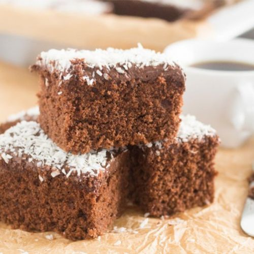 Swedish Chocolate Coffee Squares