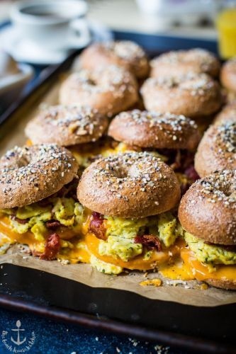Bacon, Egg and Cheese Breakfast Sliders