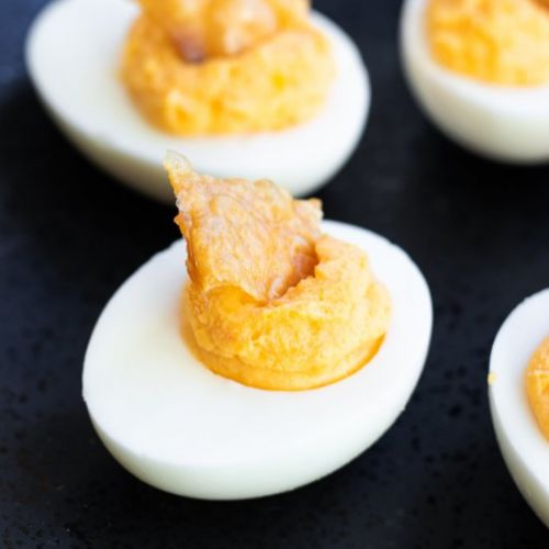 Buffalo Deviled Eggs