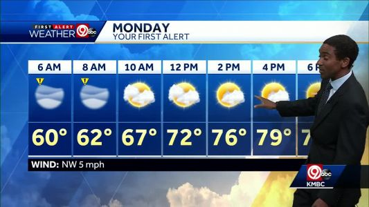 Drying out overnight, fog possible early Monday