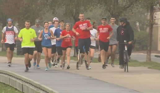 Mission accomplished: Wounded veteran completes month of marathons