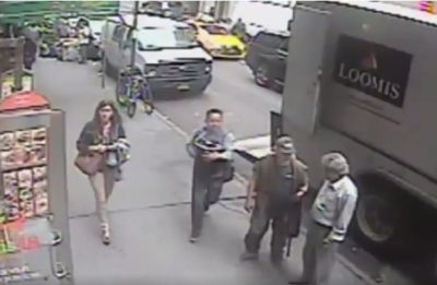 New York City police are looking for a thief who walked off with a bucket full of $1.6 million in gold flakes