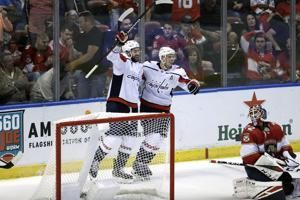 Wilson scores in OT to lift Capitals over Panthers 5-4