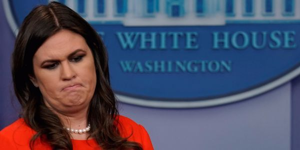 In leaked conversation, Sarah Huckabee Sanders lambasts White House staffers over leaking details of private meetings