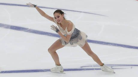 Back on the ice: Olympic champion figure skater Alina Zagitova returns to teammates after testing NEGATIVE for COVID-19
