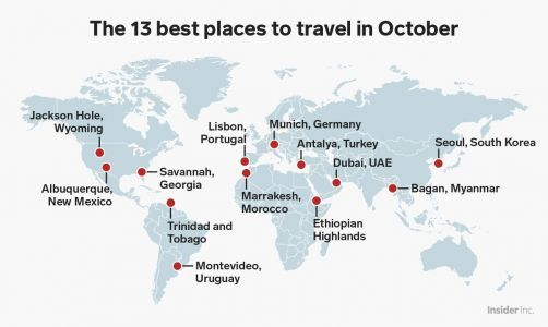 The 13 best places to visit in October for every type of traveler