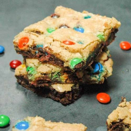M&M Blondies | Brookie Bars