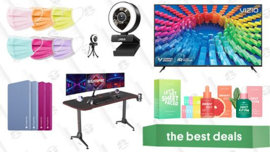 Sunday's Best Deals: Vizio 50-inch 4K Smart TV, Ring Light Webcam, I Dew Care K-Beauty Products, Mophie Powerstation Minis, Flexispot Gaming Desk, and More