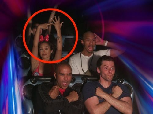 A woman causally showed off her engagement ring while riding Space Mountain - and Disney fans love it