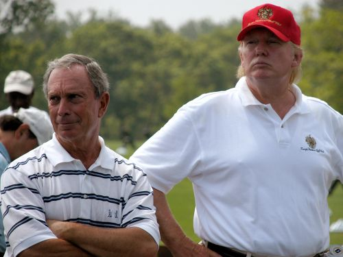 Mike Bloomberg is roasting Donald Trump in billboards in two Western cities - see photos of the ads