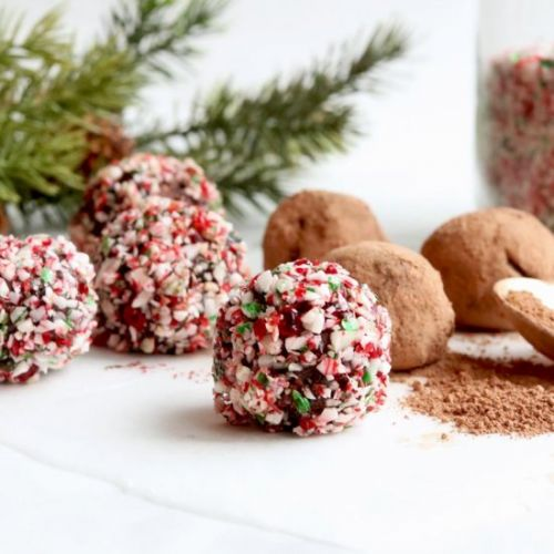 4 Ingredient Candy Cane Truffles