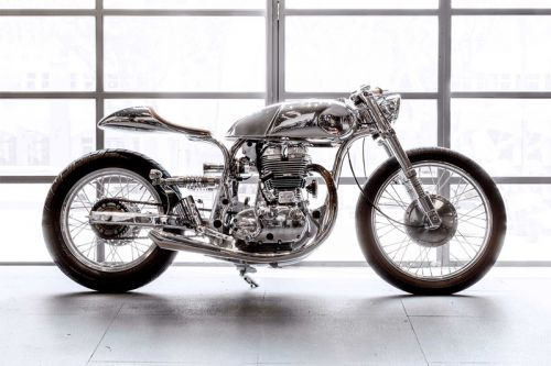 Bandit9 Motors Reworks Royal Enfield Continental GT With Mirror-Like Finish