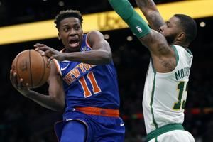 Burke scores 29, Knicks end 6-game, top Celtics 117-109