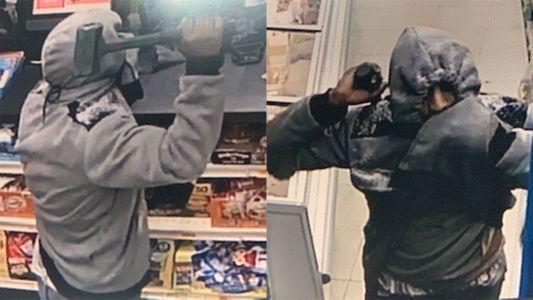 Man armed with sledgehammer tries to rob Manchester store, police say