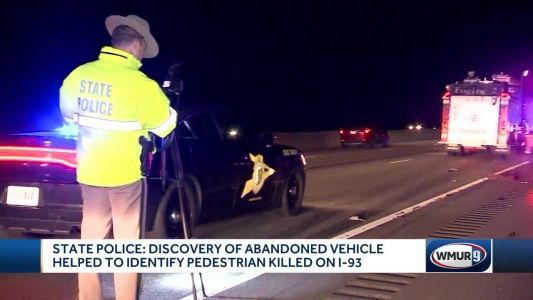 Pedestrian killed in crash on I-93 identified thanks to tip from hunters, state police say