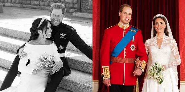 How Prince Harry, Meghan Markle's official portraits compare to Prince William, Kate Middleton's