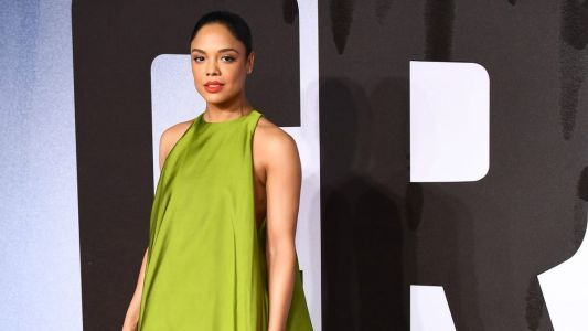 Tessa Thompson Wore Voluminous Green Valentino and a Mile-Long Braid at the 'Creed II' Premiere