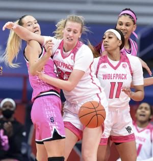No. 2 North Carolina State women hold off Syracuse, 68-61