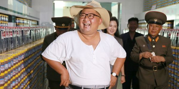 Kim Jong Un looked really happy touring a fish-pickling factory