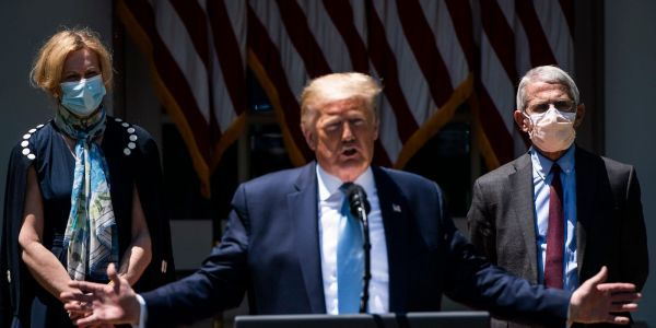 25 times Trump downplayed COVID-19 publicly after telling Bob Woodward on tape it was 'more deadly than strenuous flus'