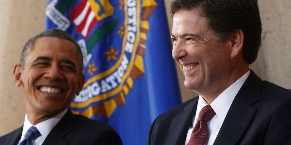 A playful joke Obama told James Comey's family shows why he was 'a compelling leader'