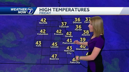 Sunshine and warmer temperatures return Friday