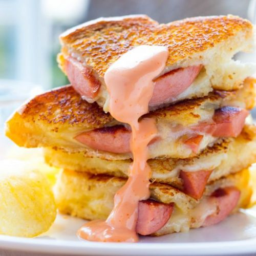 Hot Dog Grilled Cheese Sandwich
