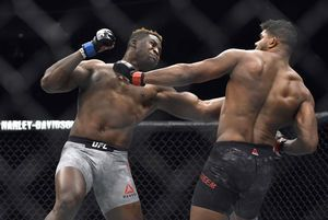 The Latest: Makhachev KOs Tibau in 57 seconds at UFC 220