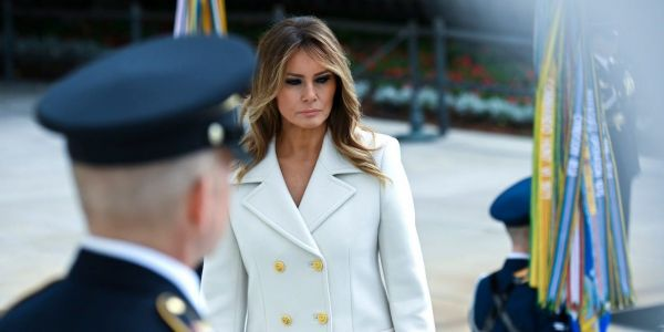 Melania Trump told Americans to wear face masks in public but ignored her own advice during Memorial Day events