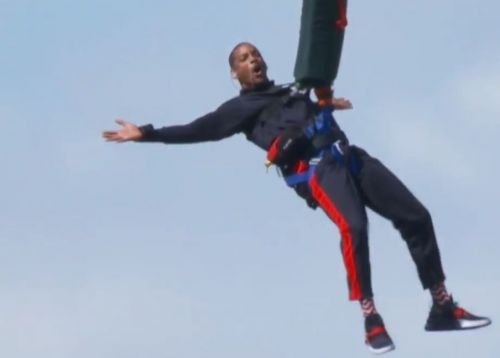 'Never look down': Will Smith bungee jumps out of helicopter into Grand Canyon
