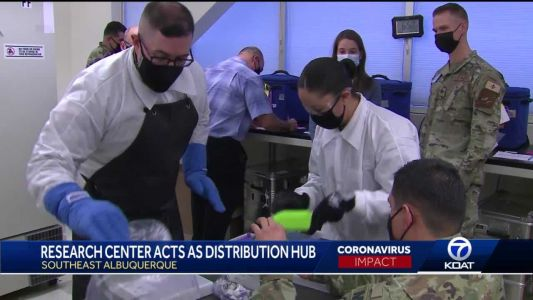 Research center acts as COVID-19 distribution hub