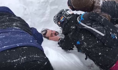 Video: Rescuers use bare hands to dig man out of Calif. avalanche