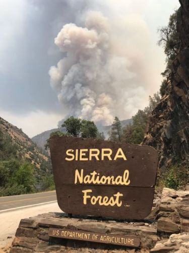 Forest fire near Yosemite continues to grow as heat spikes