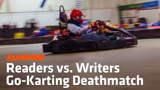Here's How You Readers Beat Our Asses At Karting At The 2018 Detroit Auto Show