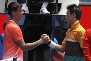 The Latest: 2018 semifinalist Chung out early in Australia