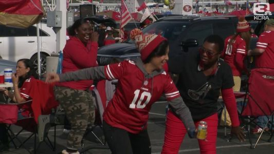 Fans celebrate as 49ers host Packers for NFC championship game