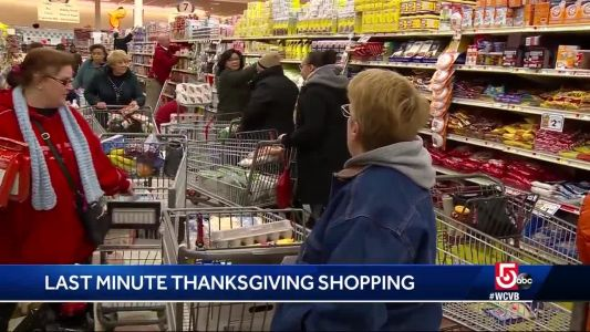 Here's what Market Basket looked like on the day before Thanksgiving