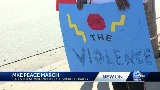 'Stop the violence': Milwaukee organizations gather for citywide peace march