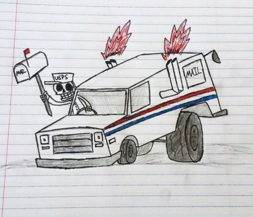 This United States Postal Service employee was immediately fired after stealing a mailbox and runnin