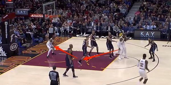 LeBron James threw perhaps the pass of the year, and Dwyane Wade's reaction showed the insanity of it