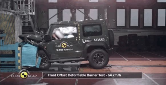 We Regret to Inform You the New Suzuki Jimny Isn't Great in a Crash Test